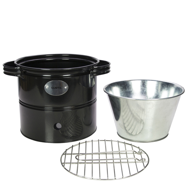 Gusta Mini Barrel Houtskoolbarbecue